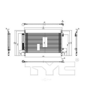 A/C Condenser TYC 3799 fits 10-11 Chevrolet Camaro