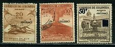 Colombia 3 used  Aereo stamps 1959-60