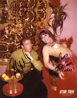 WILLIAM SHATNER TANYA LEMANI SIGNED 8x10 PHOTO STAR TREK TOS RARE BECKETT BAS