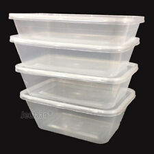 Plastic Food Containers Takeaway Microwave Freezer Safe Storage Boxes Lids New