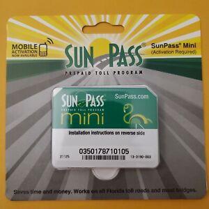 NEW SunPass Transponder Mini Sticker Pre-Paid Toll Program FLORIDA  free shippin