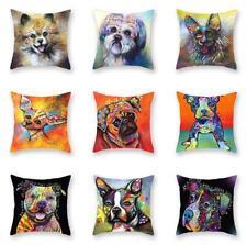 Dog Wear Headphones Pillow Case Cushion Cover Office Pillowcase Sofa Home Decor Table & Sofa Linens