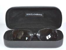 DOLCE GABBANA AUTH. BLACK CLASSIC RECTANGLE PLASTIC FRAME SUNGLASSES *GUC*