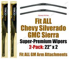 Wipers 2pk Hi-Performance fit ALL 1999-2016 GMC Sierra & Chevy Silverado 25220x2
