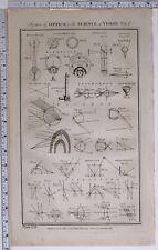 1788 ORIGINALE STAMPA Optics scienza della visione POLIEDRO OPERA IN VETRO parhelion