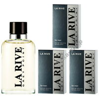 3x90ml = 270ml !!!  LA RIVE GREY POINT Eau de Toilette zum absoluten Hammerpreis