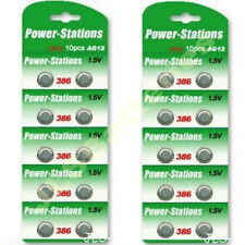 20 x Alkaline 1.5V Button Cell Batteries  AG12 LR43 386