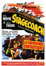 Stagecoach (1939) John Wayne Claire Trevor movie poster print 3