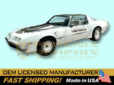 1980 Trans Am Turbo Indy 500 Pace Car ULTIMATE Firebird T/A Decals & Stripes Kit