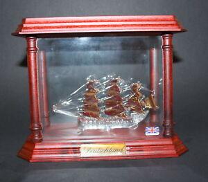 Glas Mayflower - Flaschenschiff - Deutschland - NEUWARE