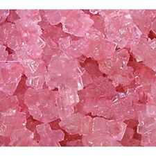 PINK CHERRY Rock Candy crystals on Strings 5 lbs