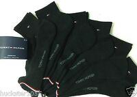 Tommy Hilfiger 6-Pair Athletic Quarter Crew Socks  Black  (4044)