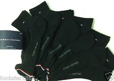Tommy Hilfiger 6-Pair Athletic Quarter Crew Socks.Black  (2137)