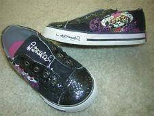 "DON ED HARDY Lowrise Laceless ""Love Slowly"" Slip-on Kid's Sneaker Shoes Sz 8C"