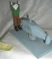 Fred Webster  FOLK ART  outsider  artist JONAH AND  WHALE wood sculpture