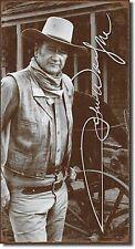 "John Wayne Signature The Duke The Legend Western Rifle Gun 8.5"" X 16"" Metal Sign"