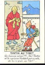 TINTIN au Tibet Milou Hergé carte postale cp postcard 42 moine tibétain monk