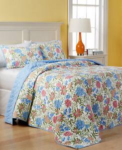 Martha Stewart Bedding Gramercy Garden Reversible QUEEN Bedspread F1395