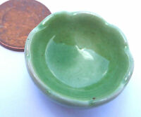 1:12 Scale Single Green Bowl Dolls House Miniature Ceramic Food Accessory G19