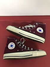 Vintage Converse Made In Usa Size 5.5 Maroon Burgundy Chuck Taylor High Top Vtg