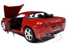 2005 CHEVROLET CORVETTE C6 COUPE RED 1:24 DIECAST MODEL CAR BY MOTORMAX 73270