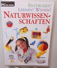 Naturwissenschaften PC Software CD-ROM Entdecken Lernen Wissen ab 7 Jahren T103