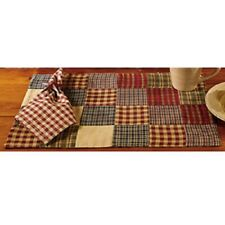 New! Primitive Country Farmhouse Rebecca'S Quilted Patchwork Placemat