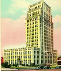 Atlanta Georgia GA City Hall Street View Cars Unused UNP Vtg Linen Postcard