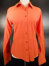 Warm Women's Medium Rockies Orange Long Sleeve Fitted Button Blouse GUC