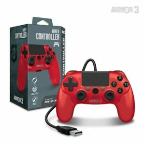 Red Armor3 Wired Game Controller for PS4/ PC/ Mac