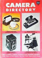 Camera Directory A Fawcett Book 1952 PB Cameras/Equipment/Tips/Photos Etc