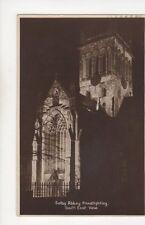 Selby Abbey Floodlighting 1941 RP Postcard 302b