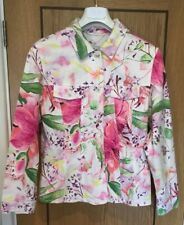 Betty Barclay Size UK 14 EU 40 Casual Multi Coloured Floral 96% Cotton Jacket