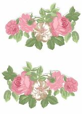 6 LAURA ASHLEY Rose Wallpaper DECOUPAGE PIECES furniture craft pretty scrapbook