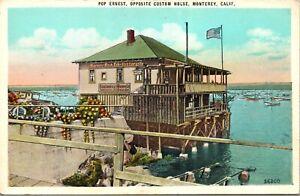 Postcard Pop Ernest, Opposite Custom House in Monterey, California~139817