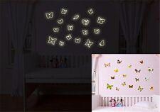 ADESIVI Murali Adesivi Bambini Ragazze Farfalla Glow in Dark Riutilizzabile Stanza Dei Giochi dc36