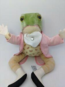 """Vintage Beatrix Potter JEREMY FISHER FROG Plush 12"""" EDEN TOYS Doll Frog"""