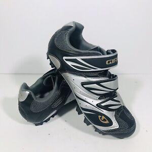 Giro Riela Cycling Bike MTB Shoes Women's Size 7.75 EU 39.5 Black Grey w/ Cleats