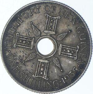 Better Date - 1935 New Guinea 1 Shilling - SILVER *676