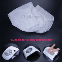 1/3/5/10Pcs Nail Art Dust Suction Collector Replacement Bag White Non-woven