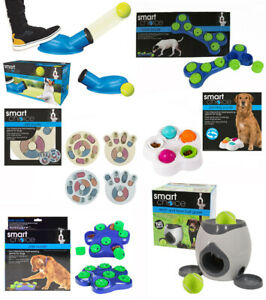 Smart Choice Interactive Dog Toys Bone Paw Spin Puzzle Treat Games Ball Launcher