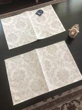 New Cotton Linen Authentic Damask Placemat Set