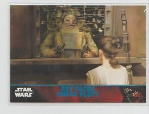Star Wars The Force Awakens Series 1 Trading Card Blue Parallel #72
