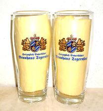2 Herzogliches Bayrisches Brauhaus Tegernsee 0.5L German Beer Glasses