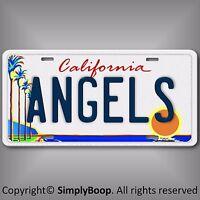 Los Angles Angels of Anaheim Team Aluminum License Plate Tag California LA New