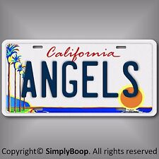 Los Angles Angels of Anaheim Team Aluminum License Plate Tag California LA New