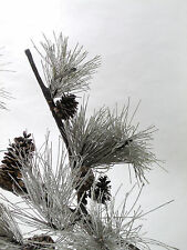 dav Faux Pine Branch with Needles & Real Pine Cones Christmas Decoration