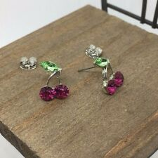 Cherry Purple Titanium Post Stud Earrings US Seller Made in Korea