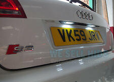AUDI New Design A3 S3 8P PLATE SLINE QUATTRO NUMBER PLATE LED UNIT WHITE 18 SMD