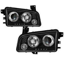 Spyder Projector Headlights LED Halo - Black for 06-10 Dodge Charger